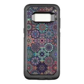 Colorful abstract tile pattern design OtterBox commuter samsung galaxy s8 case