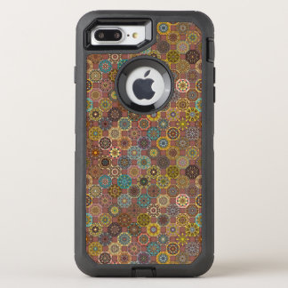Colorful abstract tile pattern design OtterBox defender iPhone 8 plus/7 plus case