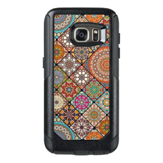 Colorful abstract tile pattern design OtterBox samsung galaxy s7 case