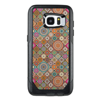 Colorful abstract tile pattern design OtterBox samsung galaxy s7 edge case
