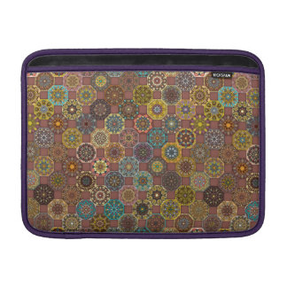 Colorful abstract tile pattern design sleeve for MacBook air