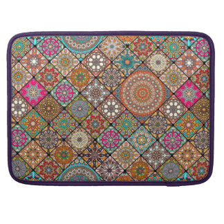 Colorful abstract tile pattern design sleeve for MacBook pro