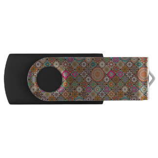 Colorful abstract tile pattern design USB flash drive