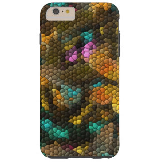 Colorful abstract tiles tough iPhone 6 plus case