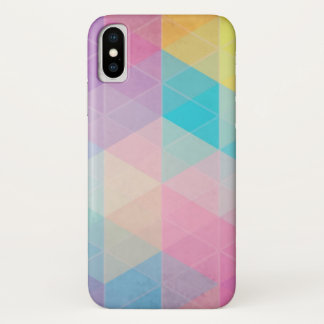Colorful abstract triangles background iPhone x case