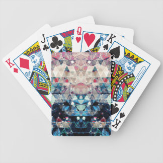 Colorful Abstract Triangles Bicycle Playing Cards
