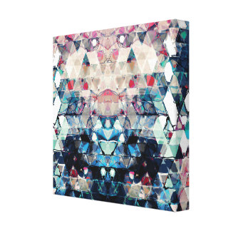 Colorful Abstract Triangles Canvas Print