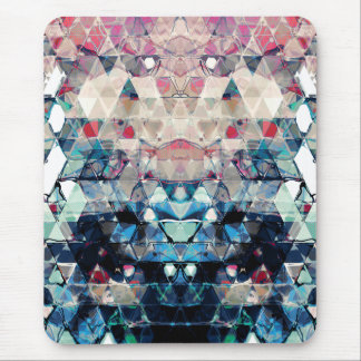 Colorful Abstract Triangles Mouse Pad