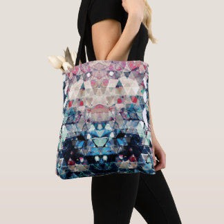 Colorful Abstract Triangles Tote Bag
