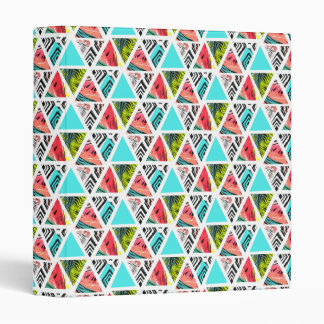 Colorful Abstract Tropical Pattern 3 Ring Binders