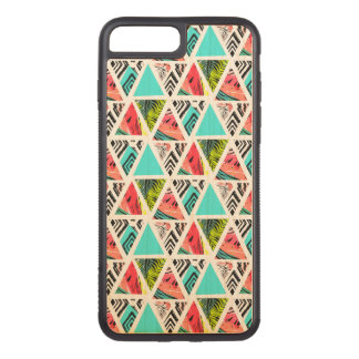 Colorful Abstract Tropical Pattern Carved iPhone 8 Plus/7 Plus Case