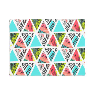 Colorful Abstract Tropical Pattern Doormat