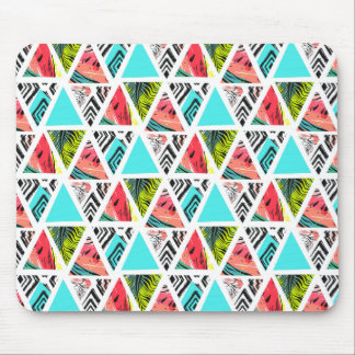 Colorful Abstract Tropical Pattern Mouse Pad