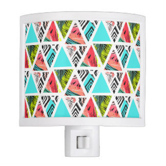 Colorful Abstract Tropical Pattern Night Lite