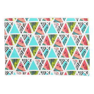 Colorful Abstract Tropical Pattern Pillowcase