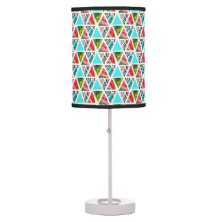Colorful Abstract Tropical Pattern Table Lamp
