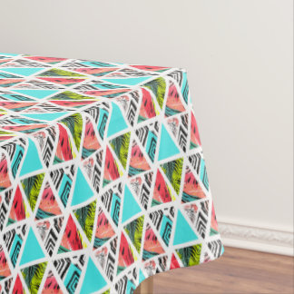Colorful Abstract Tropical Pattern Tablecloth