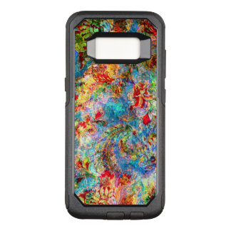 Colorful Abstract Vintage Floral Collage OtterBox Commuter Samsung Galaxy S8 Case