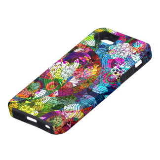 Colorful Abstract Vintage Flowers Collage iPhone 5 Cases