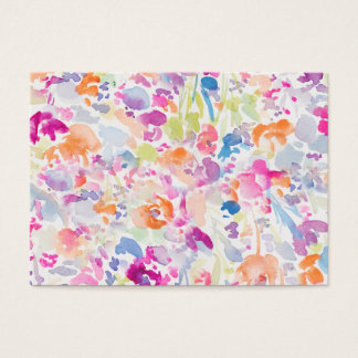 Colorful Abstract Watercolor Floral Pattern Business Card
