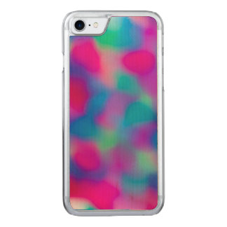 Colorful abstract watercolors pattern carved iPhone 7 case