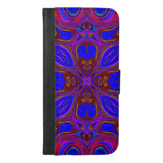 Colorful Abstract Wave iPhone 6/6s Plus Wallet Case