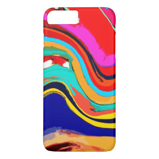 Colorful Abstract Wave of Color iPhone 7 Plus Case