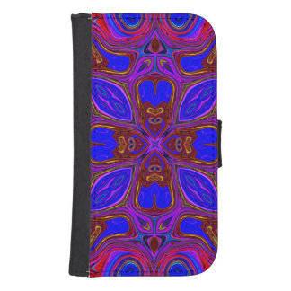 Colorful Abstract Wave Samsung S4 Wallet Case