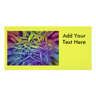 Colorful Abstract Weave Design Picture Card