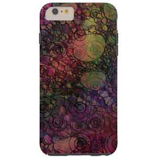 Colorful Abstract with Black & Grungy Circles Tough iPhone 6 Plus Case