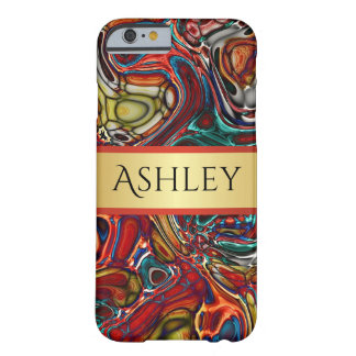 Colorful Abstract With Name Barely There iPhone 6 Case