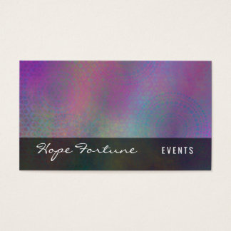 Colorful Abstract with Patterns & Grungy Texture Business Card