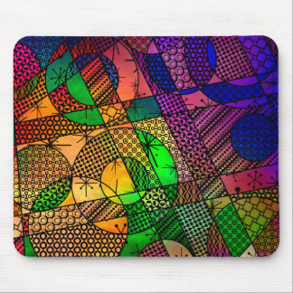 Colorful Abstract with Textures & Patterns Mouse Pad