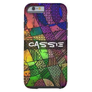 Colorful Abstract with Textures & Patterns Tough iPhone 6 Case