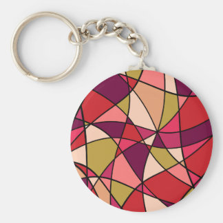 Colorful abstraction basic round button keychain