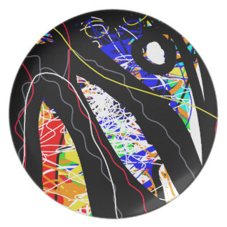 colorful abstraction dinner plates