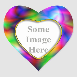 Colorful Abstraction Heart Sticker