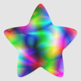 Colorful Abstraction Star Sticker