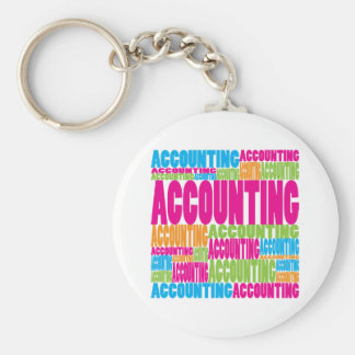 Colorful Accounting Keychain
