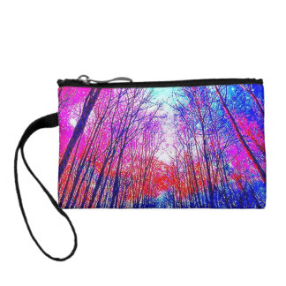 Colorful Acid Forest Key Coin Clutch Change Purses