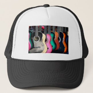 Colorful Acoustic Guitars Baseball Trucker Hat
