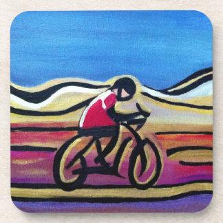 Colorful acrylic cyclist coaster