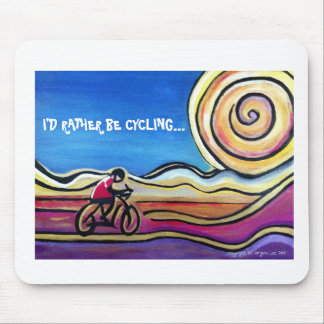 Colorful acrylic cyclist mouse pad
