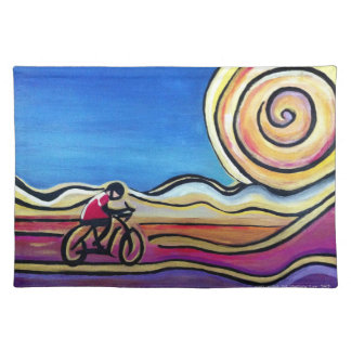 Colorful acrylic cyclist placemat