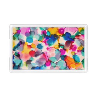 colorful acrylic tray