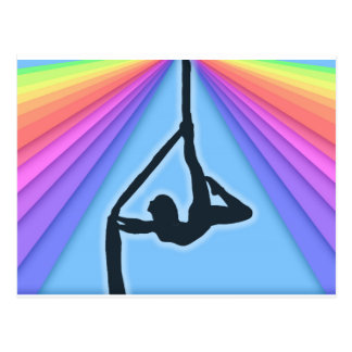 Colorful Aerial Silhouette Dancer Postcard