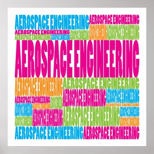 Colorful Aerospace Engineering Print