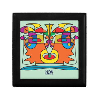 colorful african faces design gift box