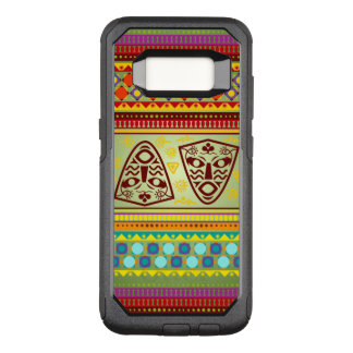 Colorful African Mask Pattern OtterBox Commuter Samsung Galaxy S8 Case