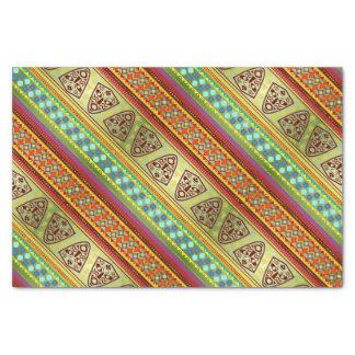 Colorful African Masks Stripe Kente Pattern Tissue Paper
